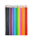 Color pencils. Colorful pencils isolated on white royalty free stock photo