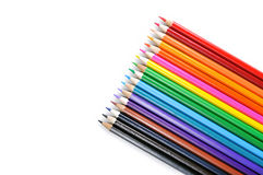 Color pencils. On white background stock image