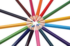 Color pencils. On a white background Stock Image