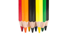 Color pencils. Against a white background Stock Photo