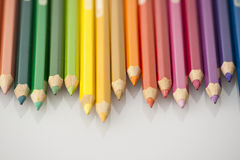 Color pencils. Isolated on white background Royalty Free Stock Photography