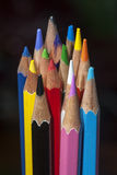 Color pencils. Group of color pencils with black background Royalty Free Stock Photography