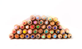 Color pencils. On white background Stock Photos
