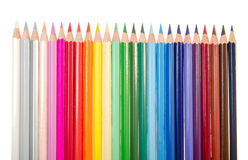 Color pencils. On white background Stock Photo