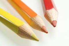 Color pencils. Three color pencils Royalty Free Stock Image
