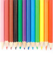 Color pencils. Isolated on white Stock Image