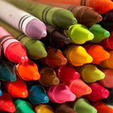 Color pencils. The considerable quantity of color pencils lies on a table Stock Photo
