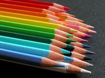 Color Pencils. On a black background Royalty Free Stock Image