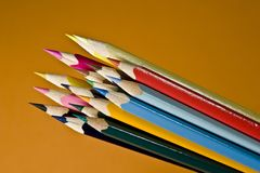 Color pencils. Art and entertainment series Royalty Free Stock Photos