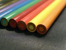 Color Pencils. Closeup of color pencils Stock Photo