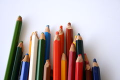 Color pencils. & paper stock images