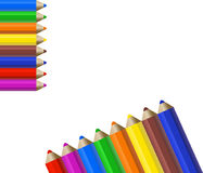 Color Pencils. Background with color pencils and space for text vector illustration