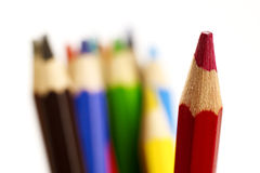 Color pencils. A set of color pencils for any age stock photos