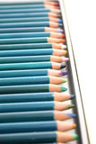 Color pencils. Lined up color pencils Royalty Free Stock Image