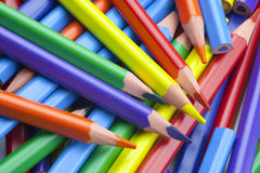 Color Pencils. A Large Group of Color Pencils Royalty Free Stock Photos