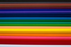 Color Pencils for Abstract Background stock photography