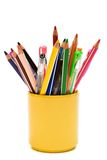 Color Pencils And Pens Royalty Free Stock Photos
