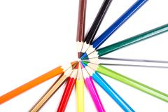 Color pencils stock image