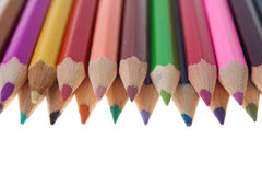 Color pencils arrangment Royalty Free Stock Photo