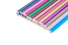 Color pencils arrangment Royalty Free Stock Photography