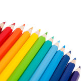 Color pencils as an arc Royalty Free Stock Images