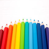 Color pencils as an arc Stock Photo