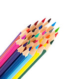 Color pencils as a bunch Stock Photos