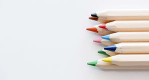 Color Pencils. With Available Copy Space stock image