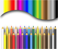 Color pencils background. Colored pencils illustration on white background Stock Photo