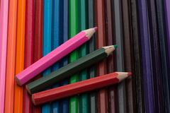 Color pencils background Stock Photography