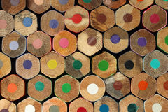 Color pencils background Royalty Free Stock Photos