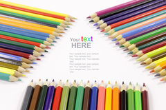Color Pencils background Stock Photo