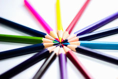 Color Pencils On Background Close-up Stock Photography