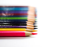 Color Pencils On Background Close-up Stock Photos