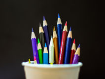 Color Pencils On Background Close-up Royalty Free Stock Images