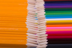 Color pencils background. close up of pencil color Stock Images