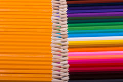 Color pencils background. close up of pencil color Royalty Free Stock Photo