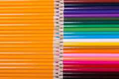 Color pencils background. close up of pencil color Stock Photography