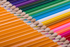 Color pencils background. close up of pencil color Stock Image