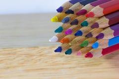 Color pencils background closeup Stock Photography