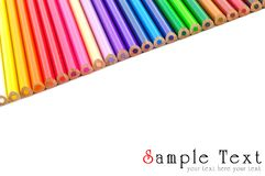 Color pencils background isolated Stock Photos