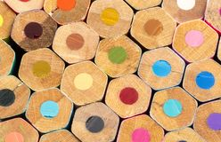 Color pencils background stock image