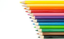 Color Pencils background. Twelve Color Pencils background isolated Royalty Free Stock Image