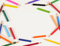 Color pencils. Backgrounds. Stock Photography