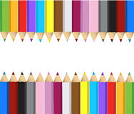 Color pencils banner frame Royalty Free Stock Photography