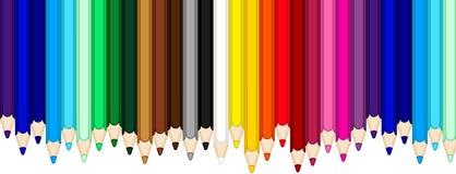Color pencils banner Royalty Free Stock Photos
