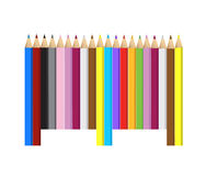Color pencils barcode upc code Stock Photo