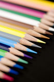 Color pencils on black background Royalty Free Stock Photo