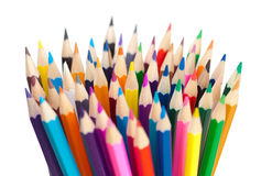 Color pencils bunch macro shot Royalty Free Stock Photo