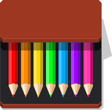 Color Pencils case Stock Photos